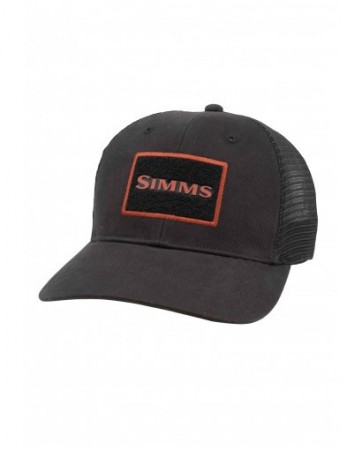 Simms High Crown Patch Trucker Black