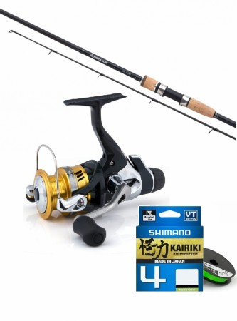 Shimano Sahara 2500 RD/ Vengeance CX270 ML (3-21 gr) m/braid