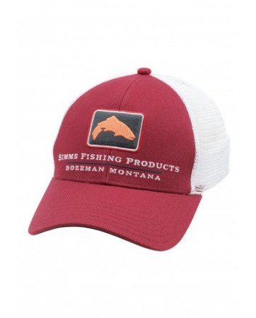 Simms Small Fit Trucker Rusty Red