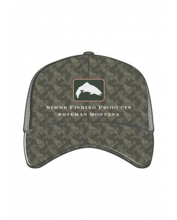 Simms Trout Icon Trucker Simms Camo