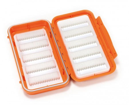 C&F 3555 GS Bonefish Large 10-Row WP Saltwater Fly Case Bright Orange