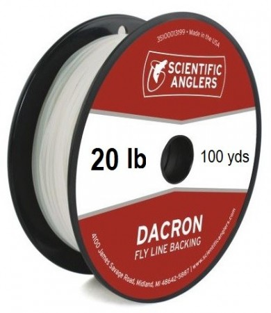 SA Dacron Backing 20 lb (100 yds) White