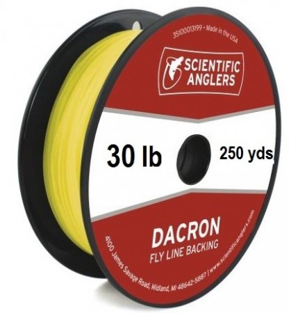 SA Dacron Backing 30 lb (250 yds) Yellow