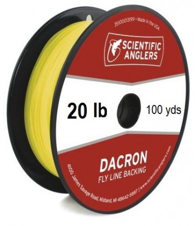 SA Dacron Backing 20 lb (100 yds) Yellow