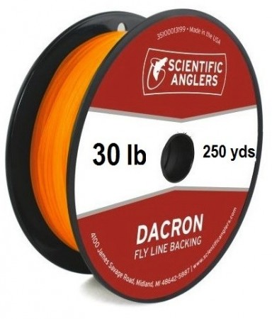 SA Dacron Backing 30 lb (250 yds) Orange