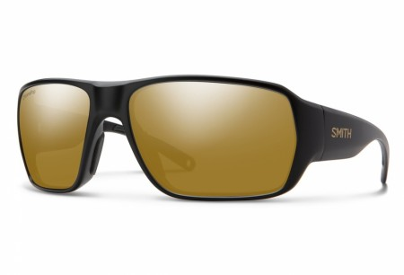 Smith Castaway Matte Black Gold Polar Bronze Mirror