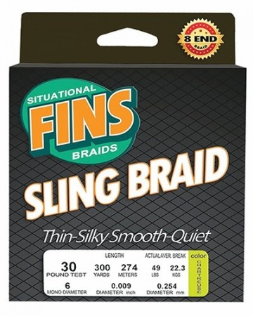 Fins Sling Braid - 150 yds (green)