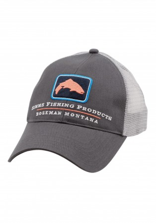Simms Small Fit Trout Trucker Cap - Anvil