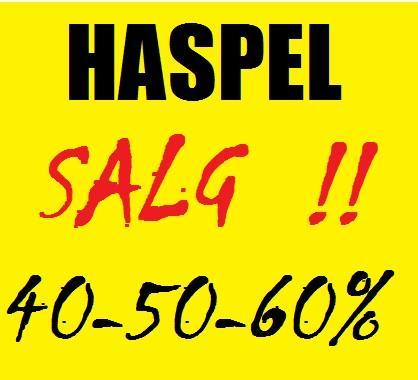 HASPEL/SLUK-SALG!