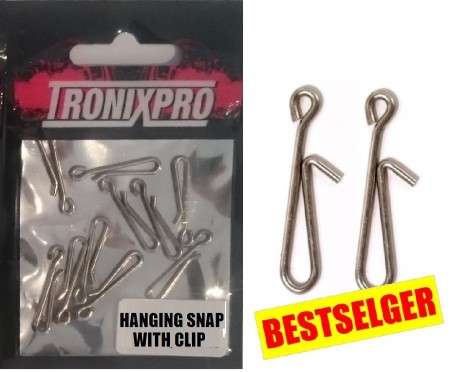 Hanging Snap w/Clip (3 x 10 stk)
