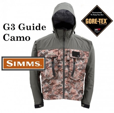 Simms G3 Guide Camo Wading Jacket XXL