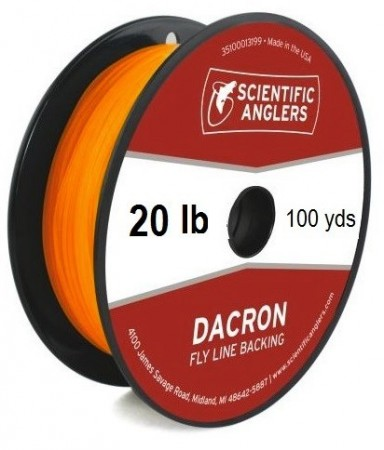 SA Dacron Backing 20 lb (100 yds) Orange