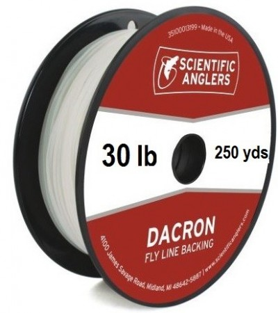 SA Dacron Backing 30 lb (250 yds) White