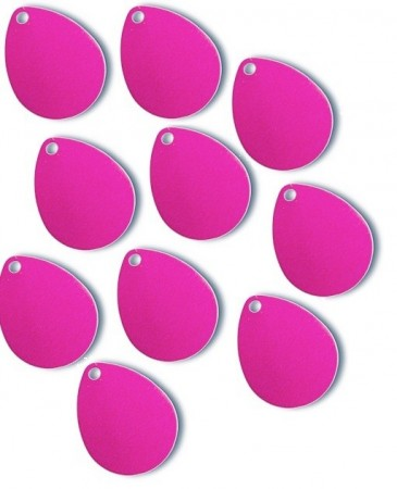 Spinner Blades Hot Pink 15 x 19 mm (10 stk)